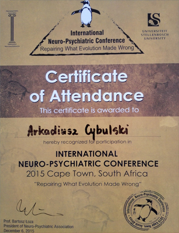 International Neuro-Psychiatric Conference: Repairing What Evolution Made Wrong